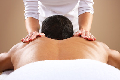 Image of man receiving physiotherapy treatment